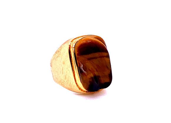 Haroldo Burle Marx 18K Yellow Gold Tiger's Eye Ring