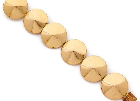 """Rare Van Cleef & Arpels 18K Yellow Gold """"Chapeau Chinois"""" Bracelet Vintage"""