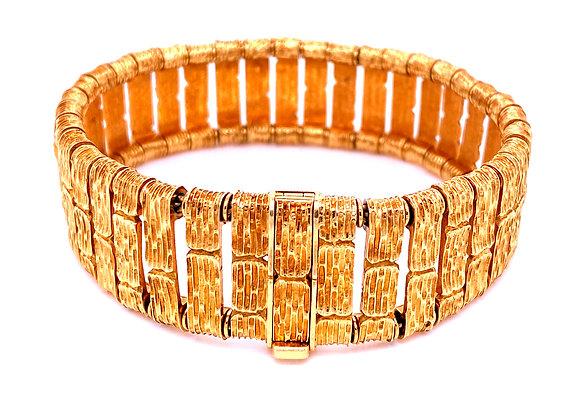 Van Cleef & Arpels design by George Lenfant 18K Yellow Gold Texturized Bracelet