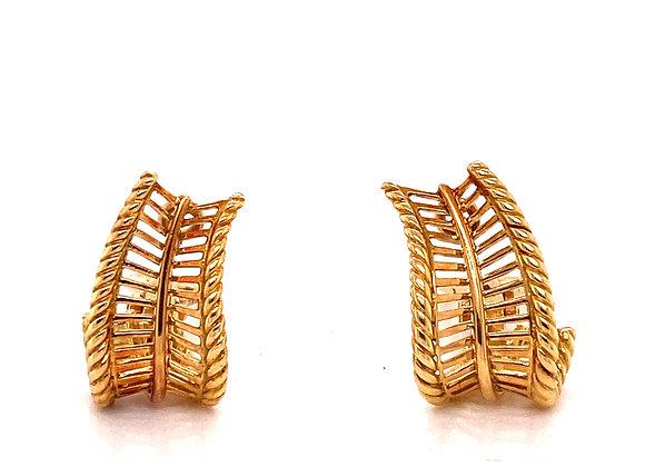 Hermes Leaf Earrings