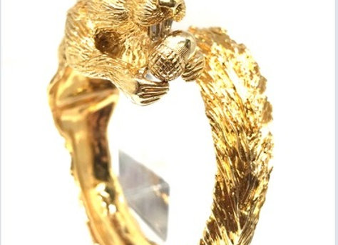 One of a kind squirrel Bangle by Van Cleef & Arpels