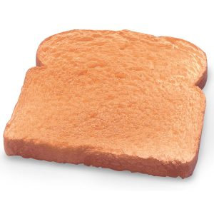 Bread toasted white