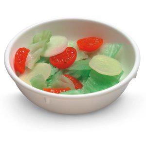 Salada picada alface-tomate-pepino