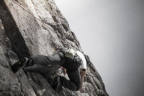 Man Klettern