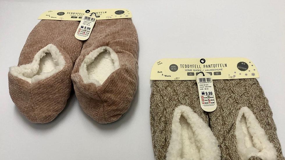 Teddyfell Pantoffeln | pantofola di teddy 🧸