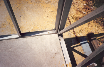 Floor with Wall Frames Bolted to Channel