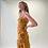 Thumbnail: Vestido corto envolvente amarillo amebas