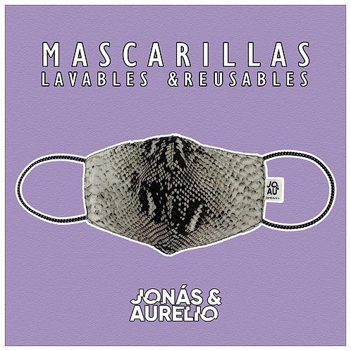 Pack02: Mascarilla Animal Print Blanco+ negro