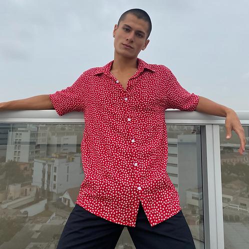 Camisa unisex rojo margarita