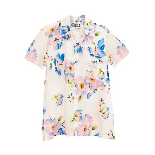 Camisa chalis unisex blanco orquídea