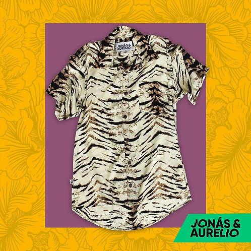 Camisa Unisex Beige zebra