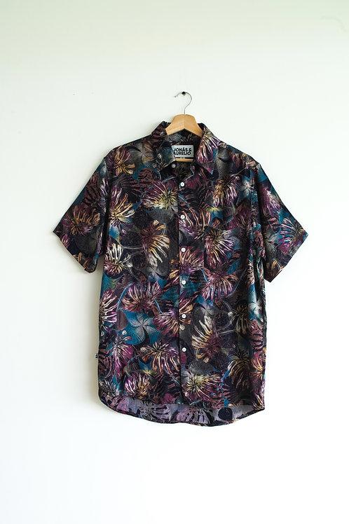 Camisa unisex chalis negra art paint