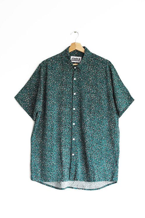 Camisa Chalis Unisex verde print atigrado