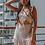 Thumbnail: Vestido corto frunsido blanco puntos rojos