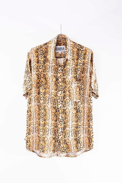 Camisa Chalis Manga Corta unisex estampado pitón animal print - L