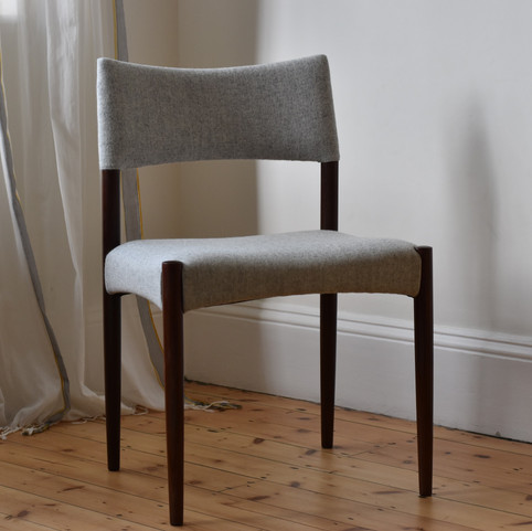 // Danish rosewood dining chair