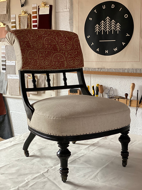 Late Victorian Slipper Chair