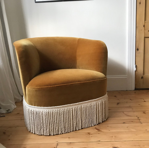 // Traditionally Upholstered Tub Chair