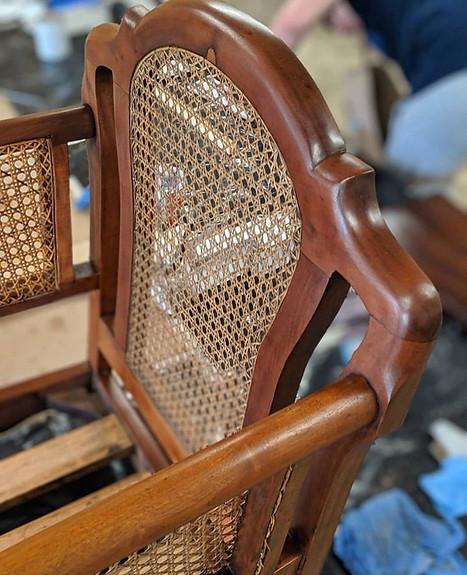 // Mahogany Bergere Chairs