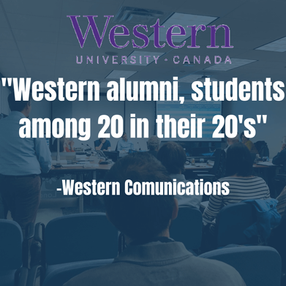 """Western Alumni, Students Among 20 in their 20's"""""""