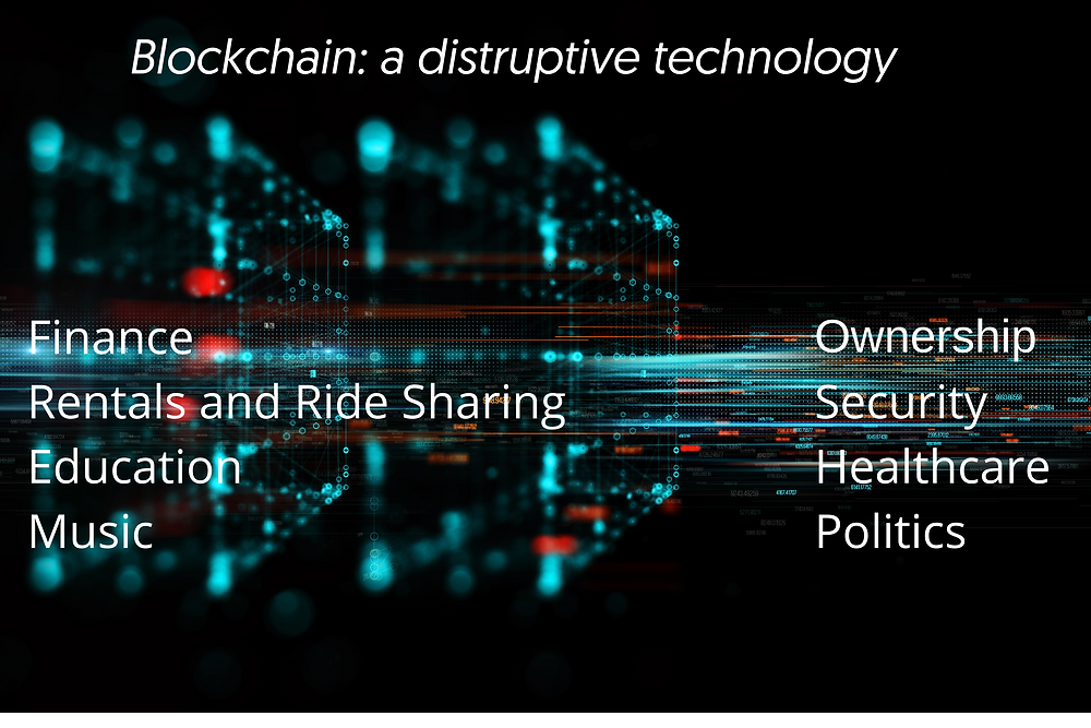 Blockchain disruptive technology