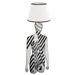 Mannequin Table Lamp_Female Torso_Graphic Woman Grey
