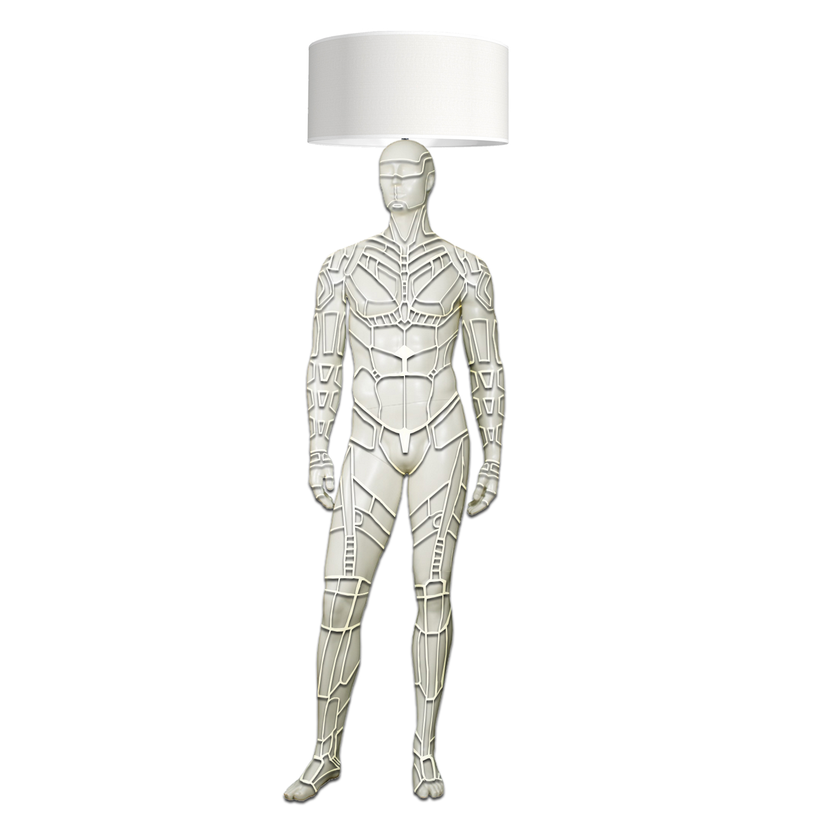 Mannequin Floor Lamp_Male_Cyborg