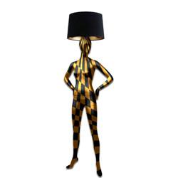 Mannequin Floor Lamp_Black & Gold Geometrical