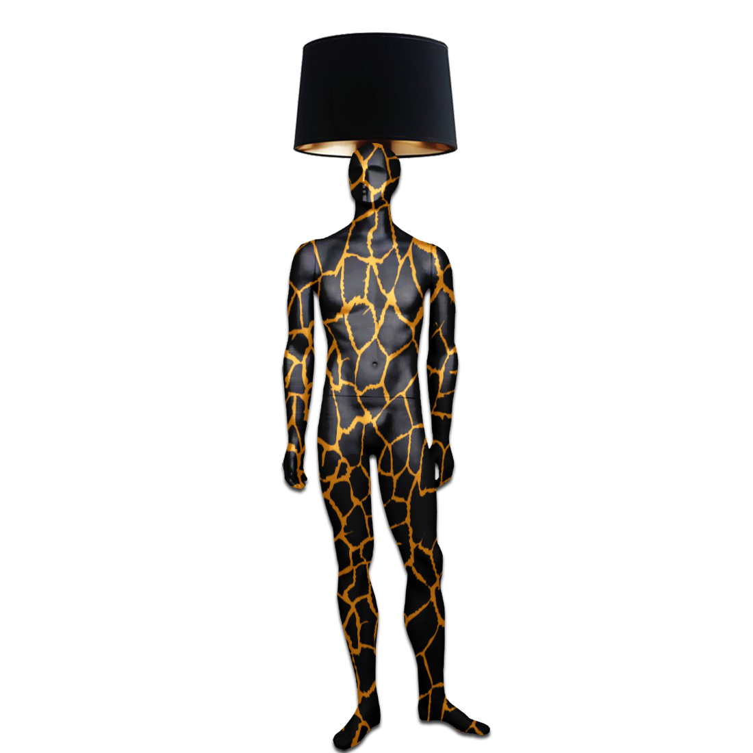 Mannequin Floor Lamp_Gold Vein Male
