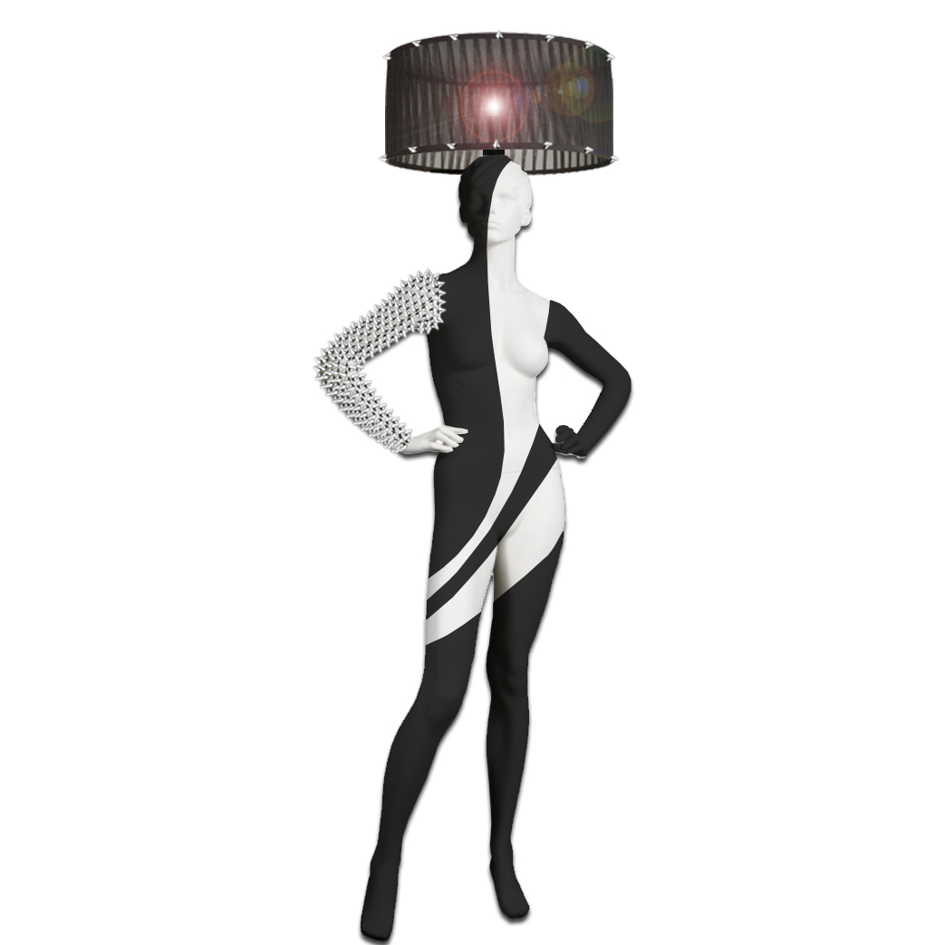 Mannequin Floor Lamp_SPIKED HAND