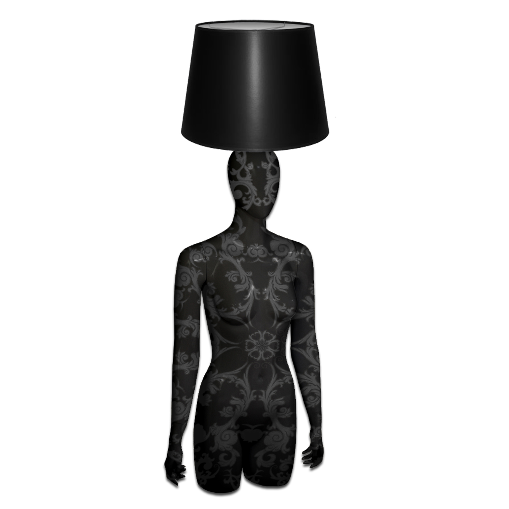 Mannequin Table Lamp_Head & Hands_Baroque