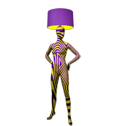 Mannequin Floor Lamp_Alien 2 Yellow Purple