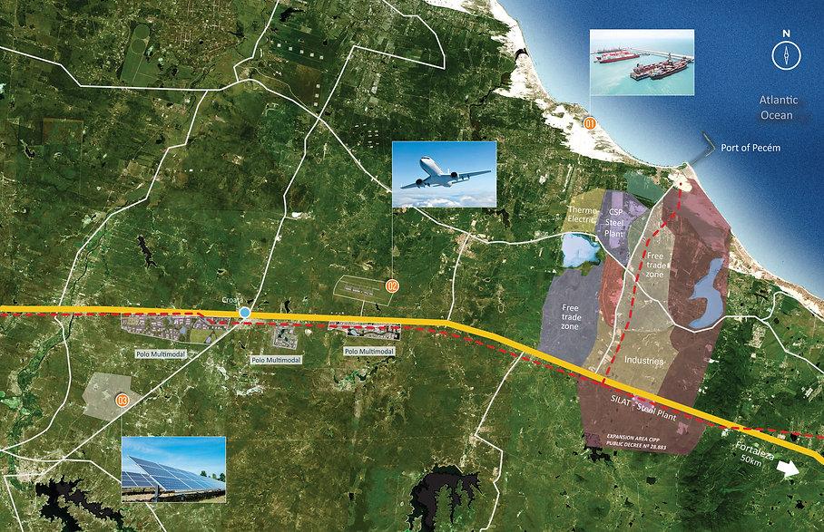 Mapa Upside Factors - Airport Port Energ