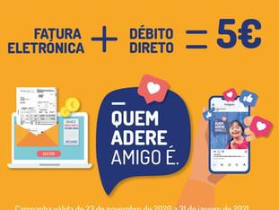 FATURA ELETRÓNICA + DÉBITO DIRETO = 5€ PARA UMA IPSS