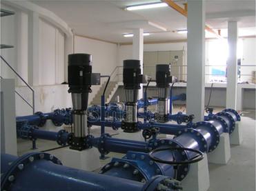 Câmara de manobras da Estação Elevatória de Leiria Norte