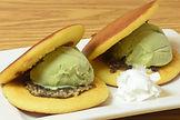 Matcha ice cream dorayaki sand doubl