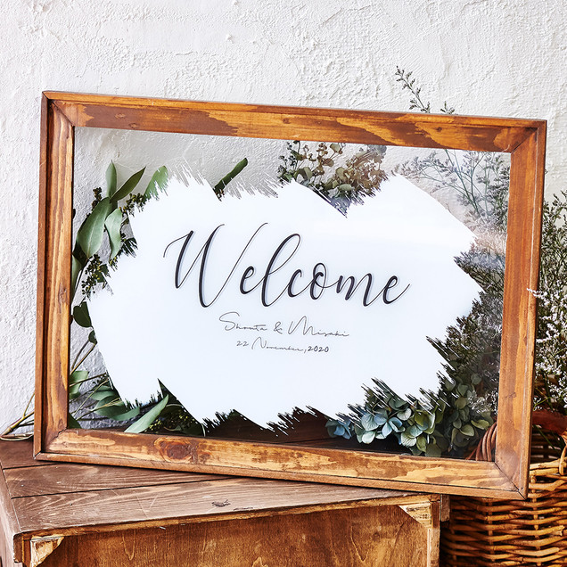 Wood Frame Welcome Board