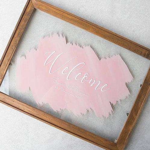 ウッドフレーム アクリルボード DESIGN A / Pink Back