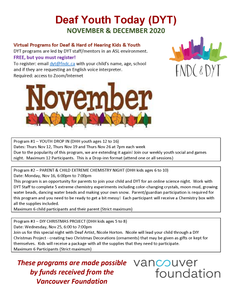 DYT November Events