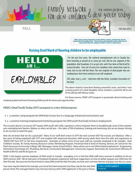Fall Newsletter is here.