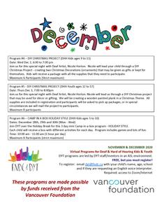 DYT December Events