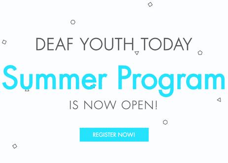 DYT Summer Program is now Open