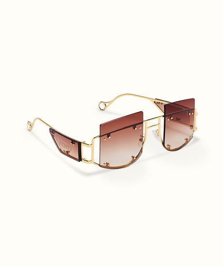 FENTY ANTISOCIAL SUNGLASSES - BOSSY BROWN