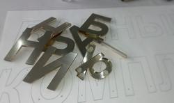 Стеклянные буквы