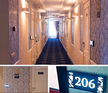 Световая табличка гостиница – отель