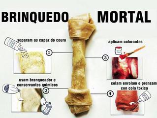Os perigos dos ossos de couro para o cão