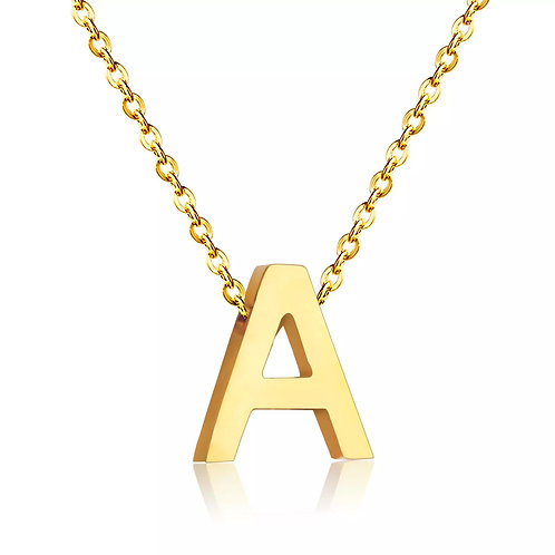 LETTER MEDAL NECKLACE