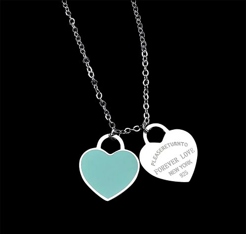 PLATED HEART CHARM NECKLACE