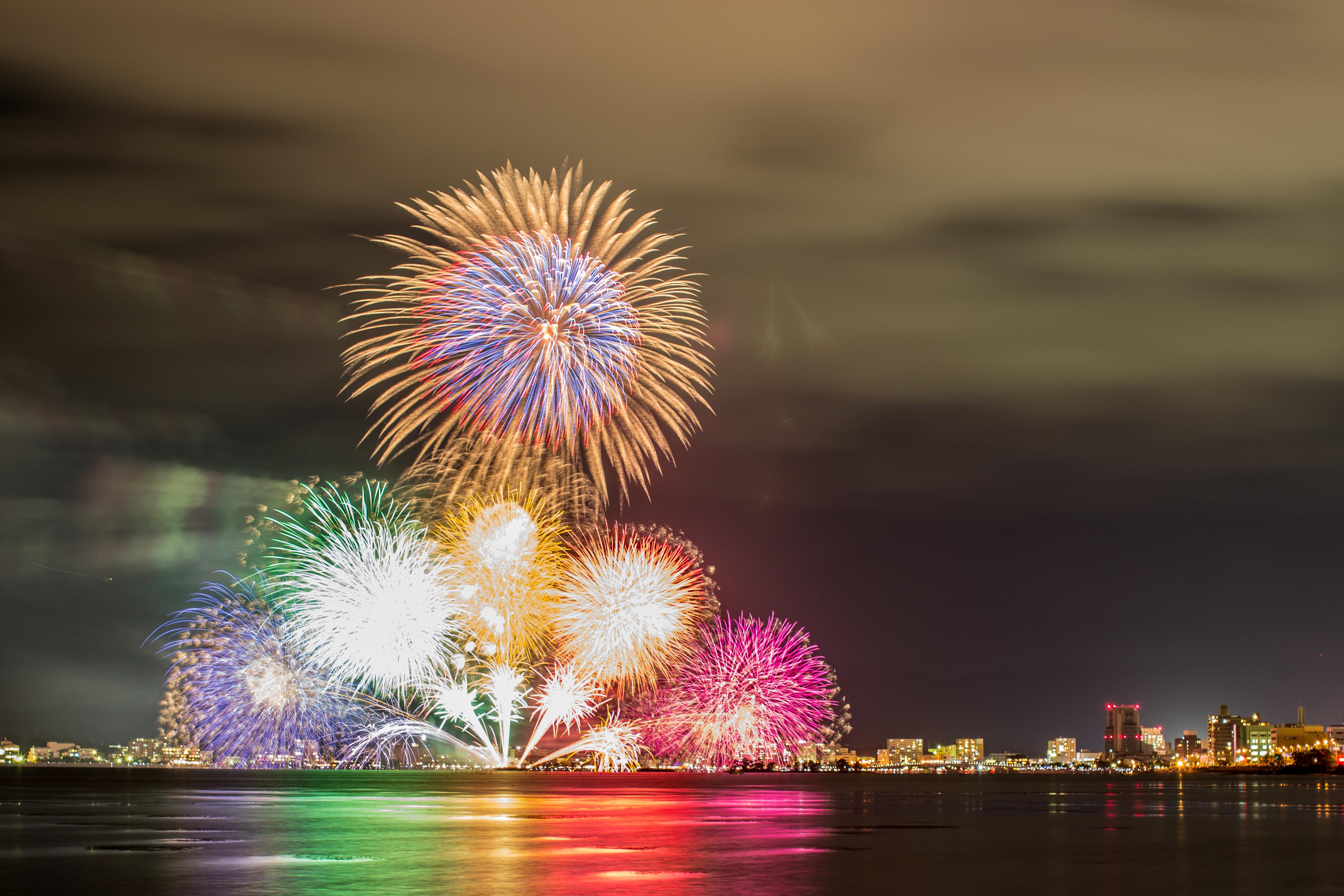 松江宍道湖の花火