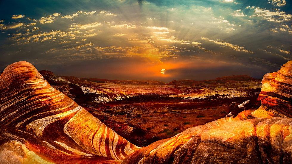Nevada-USA-nature-landscape-rocks-desert
